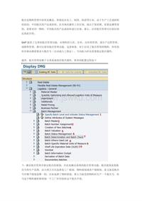 SAP 批次管理(Batch management)