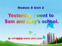 m8u 2yesterday i went to sam and amy's school