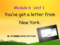 m6unit 1 you've got a letter from new york